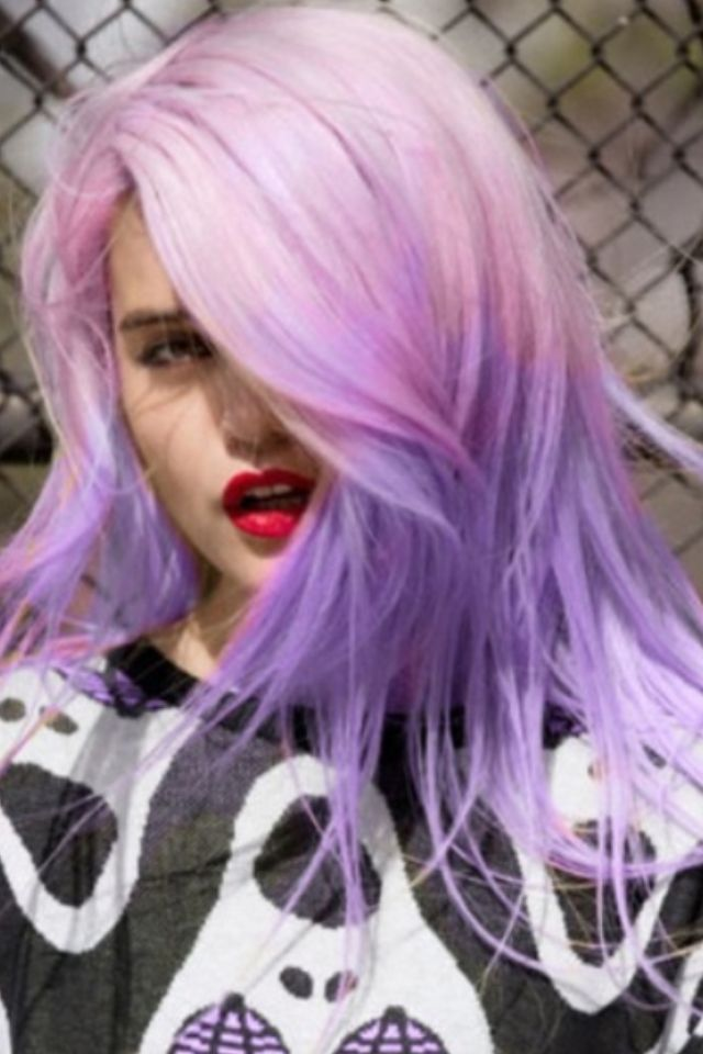 cotton candy hair #multi-colored