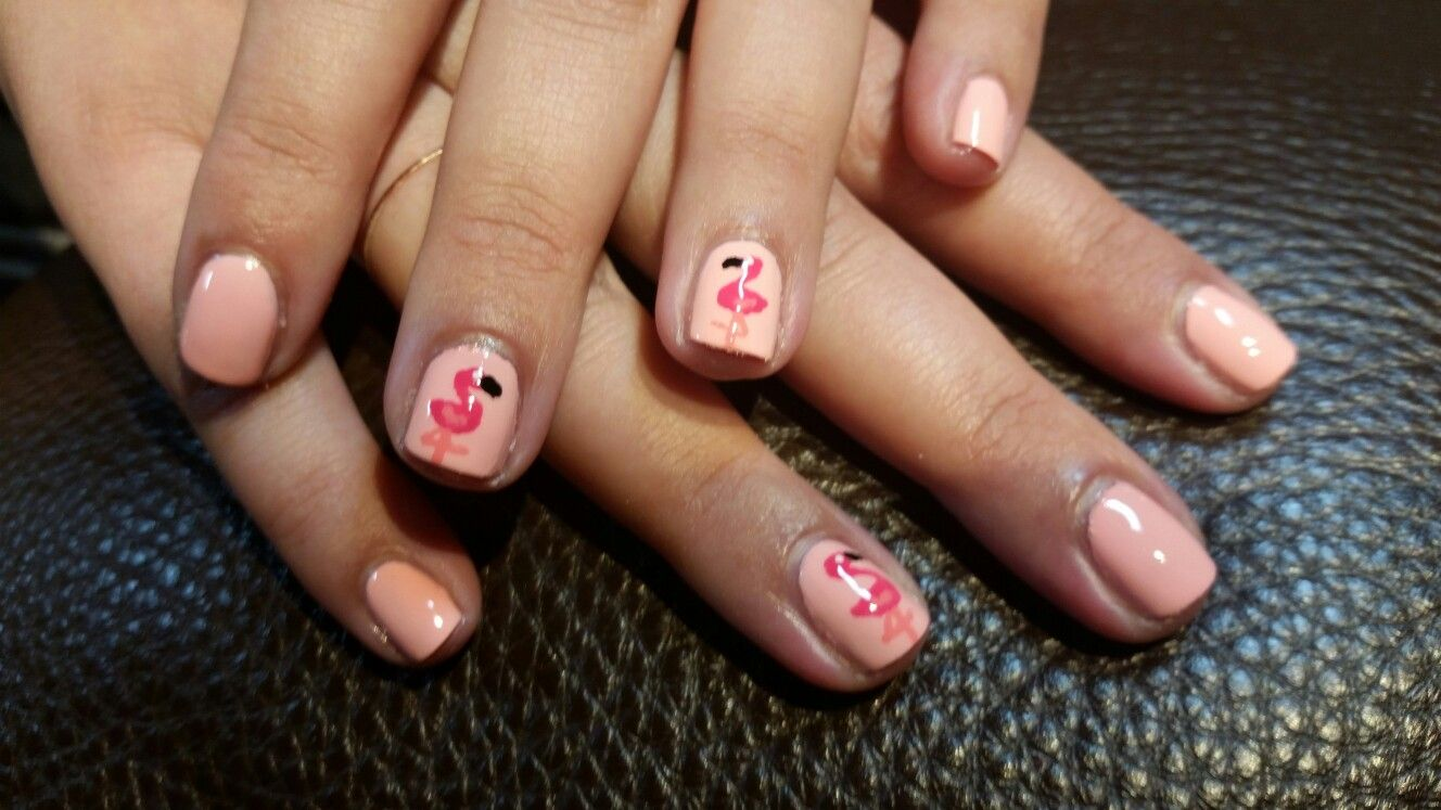 Flamingo Nail Art done by Anne Innovative Nails Red Bank NJ. | Nail ...