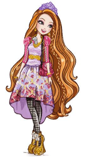 Holly O'Hair Holly O'Hair is a 2013-introduced and all-around character. She is part of Rapunzel as the next Rapunzel, and she is a student at Ever After High. In the destiny conflict, she is on the Royal side because she wants her destiny. Or rather, because she wants her sister's destiny. Holly is the younger twin sister of Poppy, but for years she was mistaken for the older one. She and Poppy have agreed to keep this reality a secret from everyone else, because Holly wants to be…