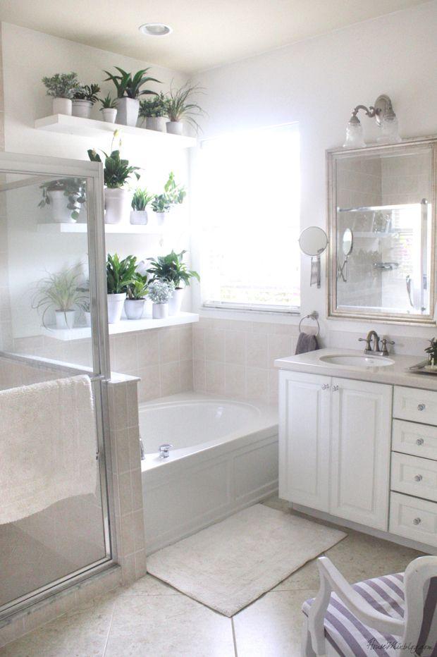 Plant Wall In The Bathroom Bathroom Plants Decor Bathroom Decor Bathroom Design
