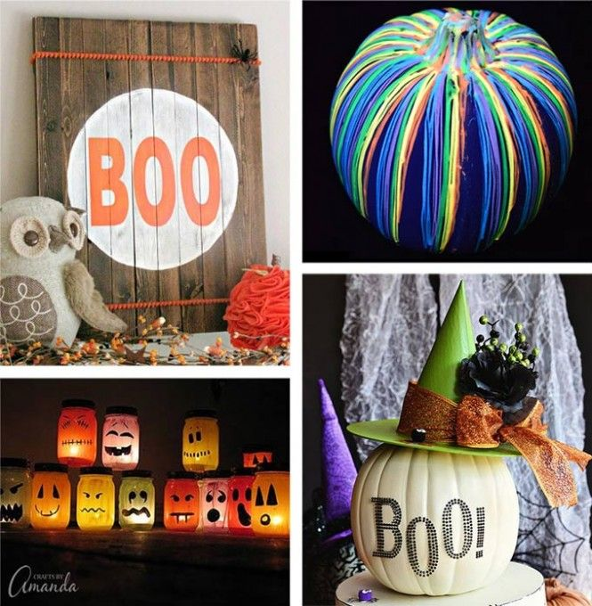 28 DIY Halloween Decorations - if you are looking for crafty ways to