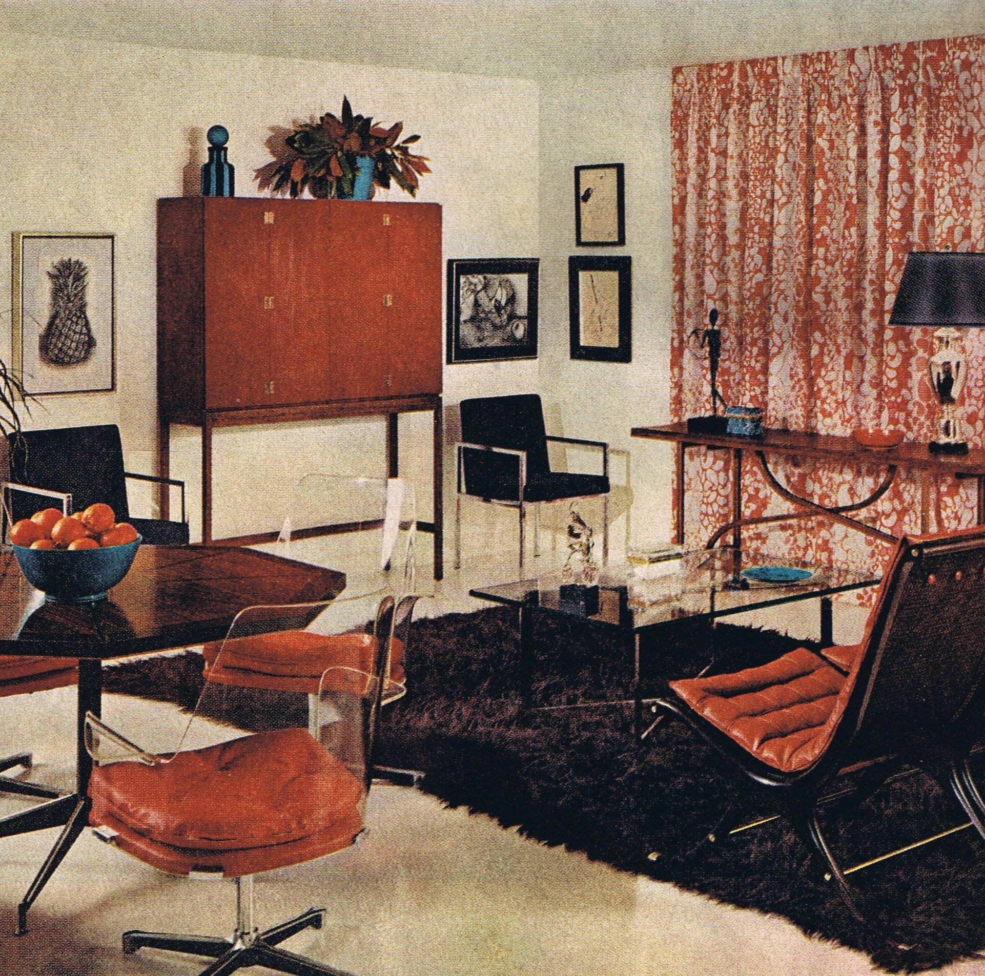 Contemporary style better homes and gardens 1967 mid - Better homes and gardens interior designer ...