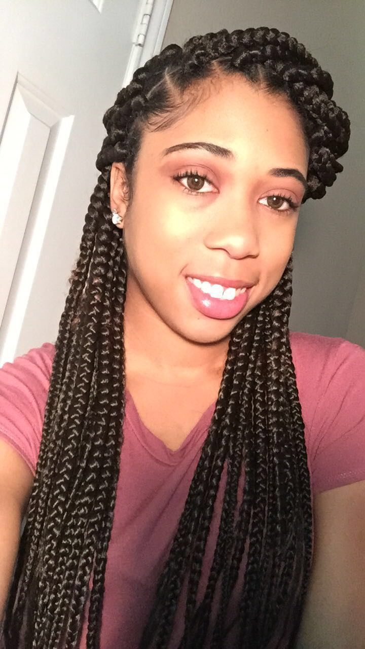 Box Braids Pintrest Jameira Natural Hair Styles Braided Hairstyles Black Natural Hairstyles