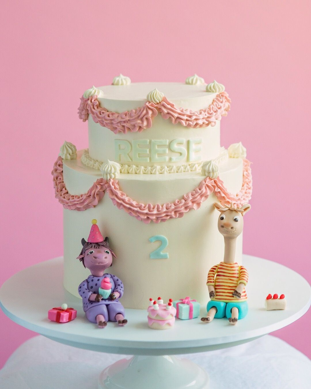 Fine Llama Llama Cake Sweet Cake For A Second Birthday Cake By Personalised Birthday Cards Beptaeletsinfo
