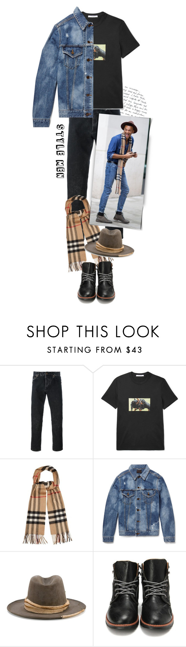 """""""Style Men"""" by lucksmetoo ❤ liked on Polyvore featuring Givenchy, Burberry, Yves Saint Laurent, Nick Fouquet, men's fashion, menswear, MensFashion, lookmale and menswearessential"""