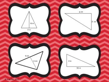 Triangle area card game math students and school triangle area card game ccuart Images