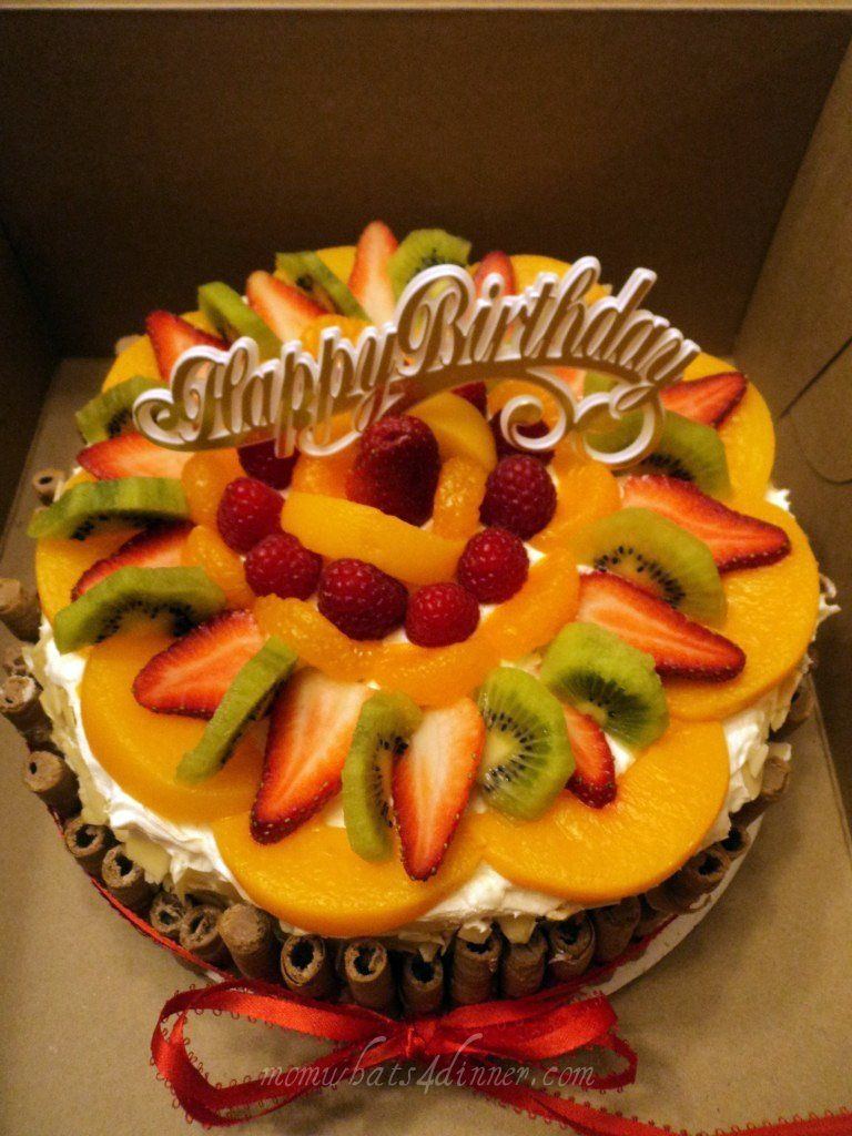 Happy Birthday Cake Love fruit Pinterest Birthday cakes