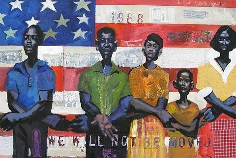 palmer_we_will_not_be_moved    Authentic African American Art
