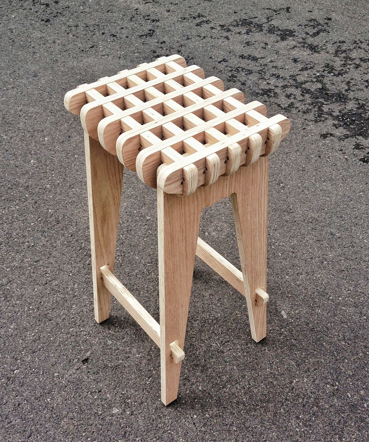 Prime Waffle Stool On Behance Wood Furniture Furniture Design Caraccident5 Cool Chair Designs And Ideas Caraccident5Info