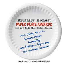 funny paper plate high school swim team awards - Yahoo Image Search Results  sc 1 st  Pinterest & funny paper plate high school swim team awards - Yahoo Image Search ...