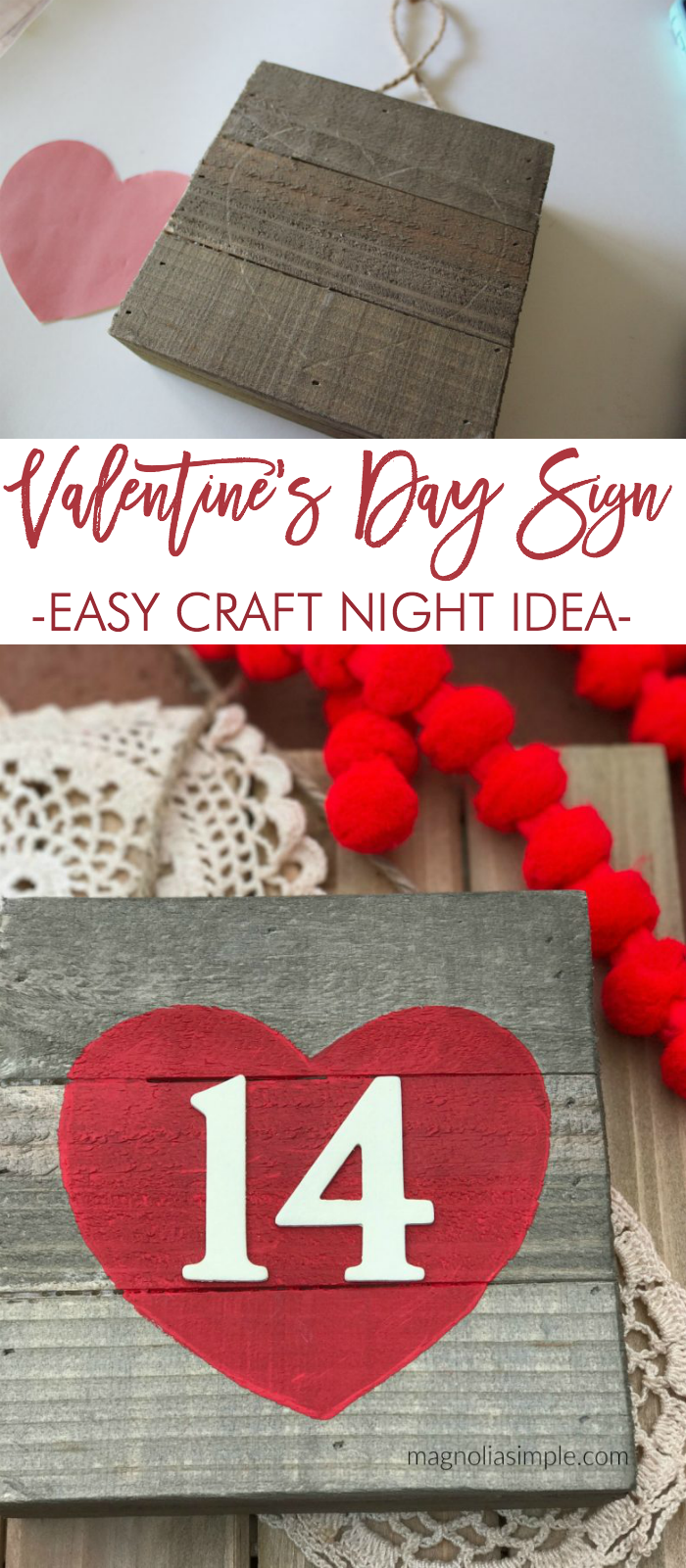 Valentine S Day Sign Easy Valentine Craft Valentine Crafts Easy