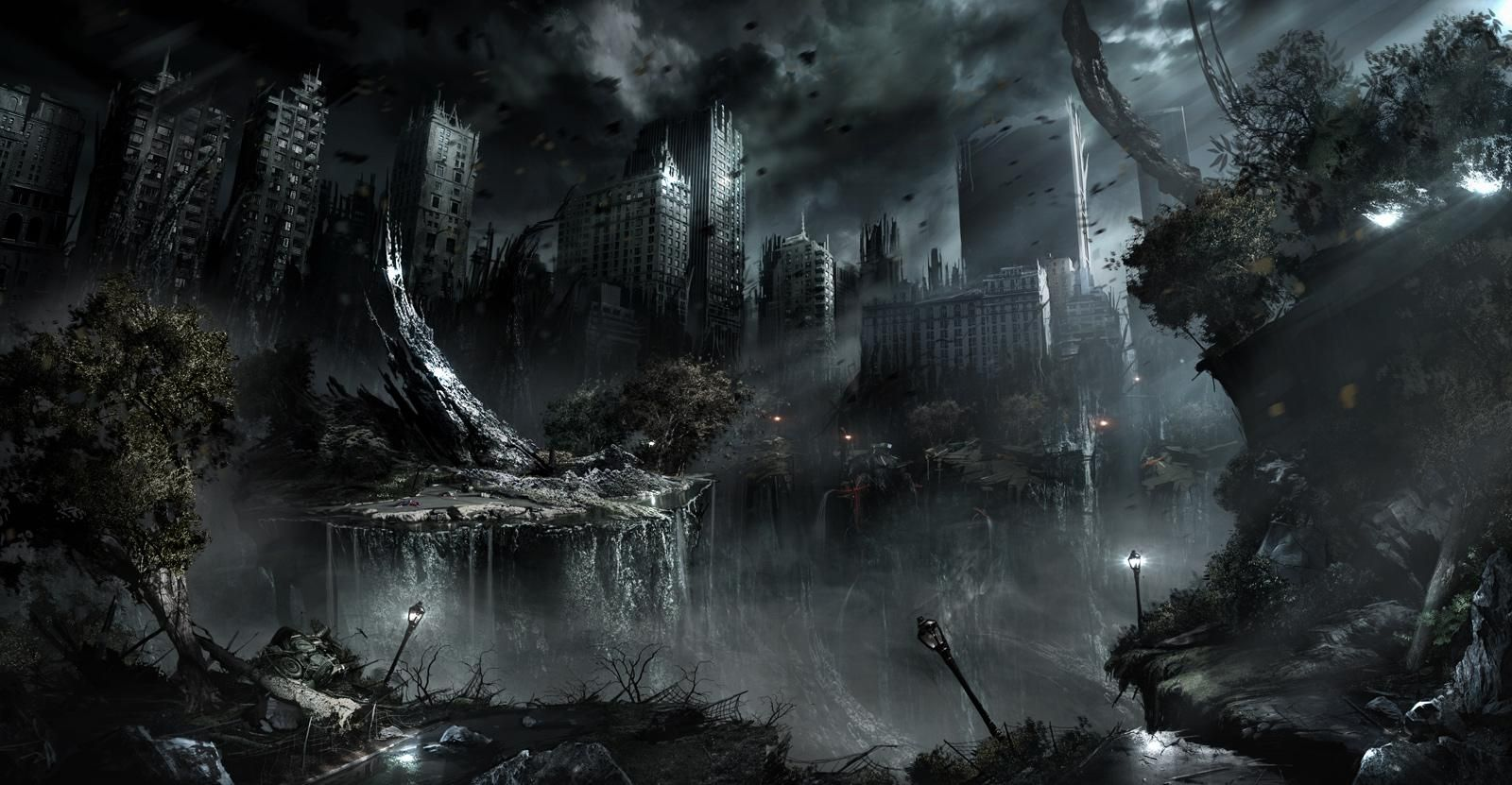 Post Apocalyptic Dystopian Wallpaper Dump As Requested By Rayquazasdarkbrother Album On Imgur Fantasy Landscape Fantasy Pictures Landscape Wallpaper