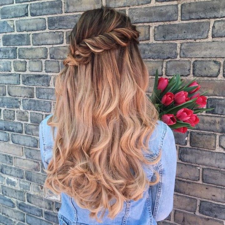 Hairstyles For Long Hair Wedding Guest