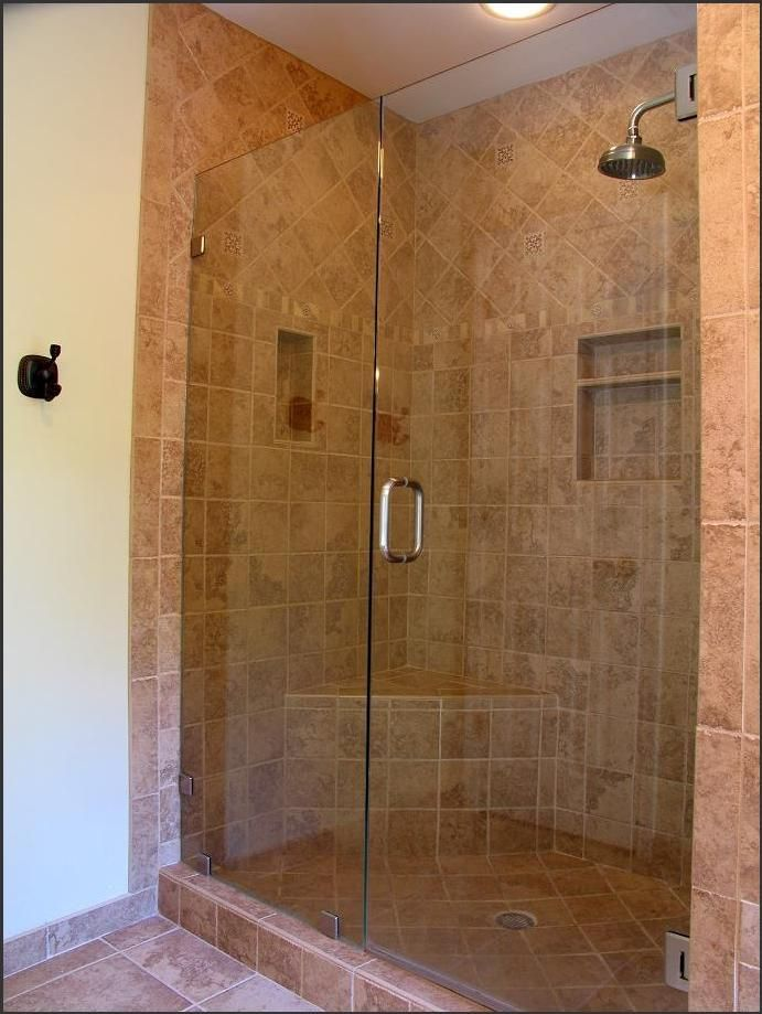 Shower doorless tile amazing shower ideas for small for Open shower bathroom