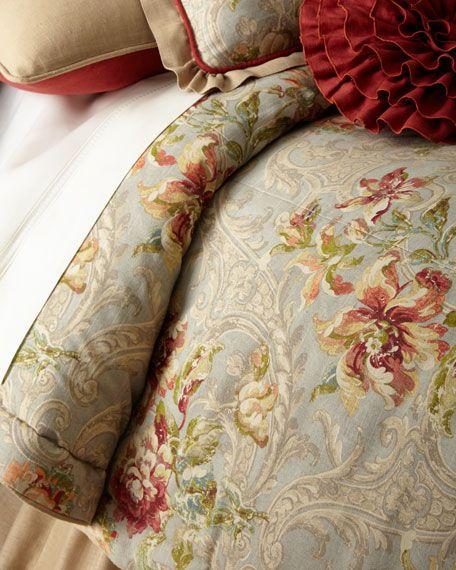 King Fresco 3 Piece Comforter Set, Sherry Kline Home Collection Country Manor Bedding