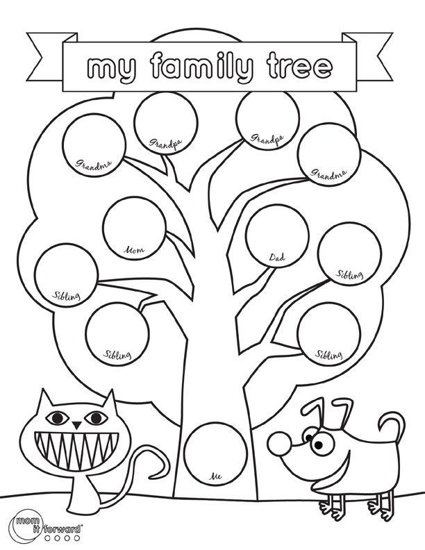 My Family Tree Printable Mom It Forward Family Tree Worksheet Family Tree Project Family Tree Printable Family worksheet for kindergarten pdf