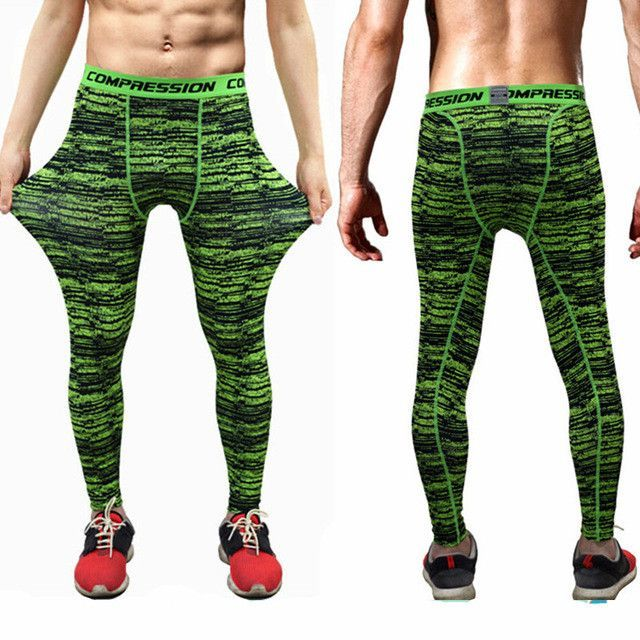 84f12100f7 2016 New men camouflage/compression trousers/Leggings Running sports/Gym  male trousers/capris of fitness/pants of quick-drying