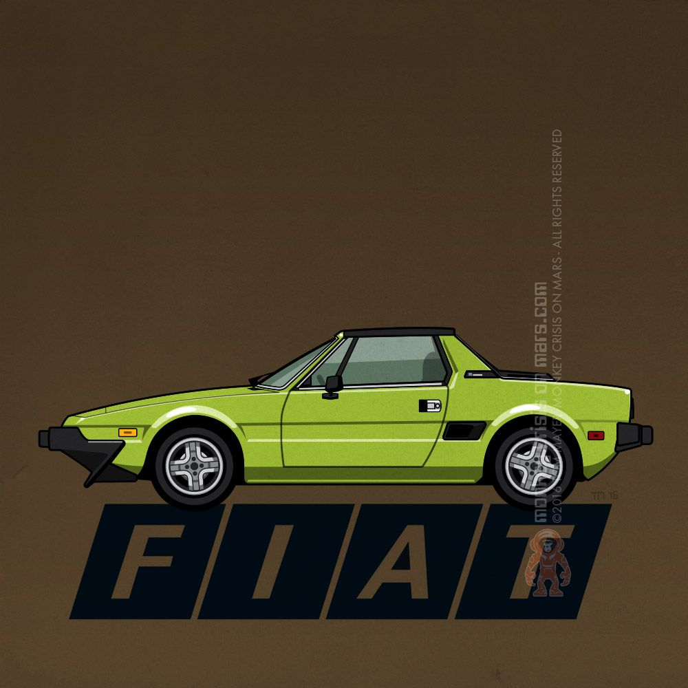 Fiat Bertone X1/9 By Monkey Crisis On Mars