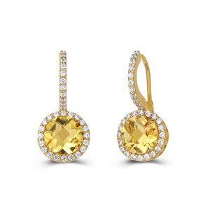 ARIA Citrine Earrings by Lafonn
