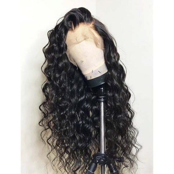 Long Black Curly Glueless Full Lace Human Hair Wigs For Women Pre-plucked Lace Wigs Bleached knots Wigs On Sale FR CA US