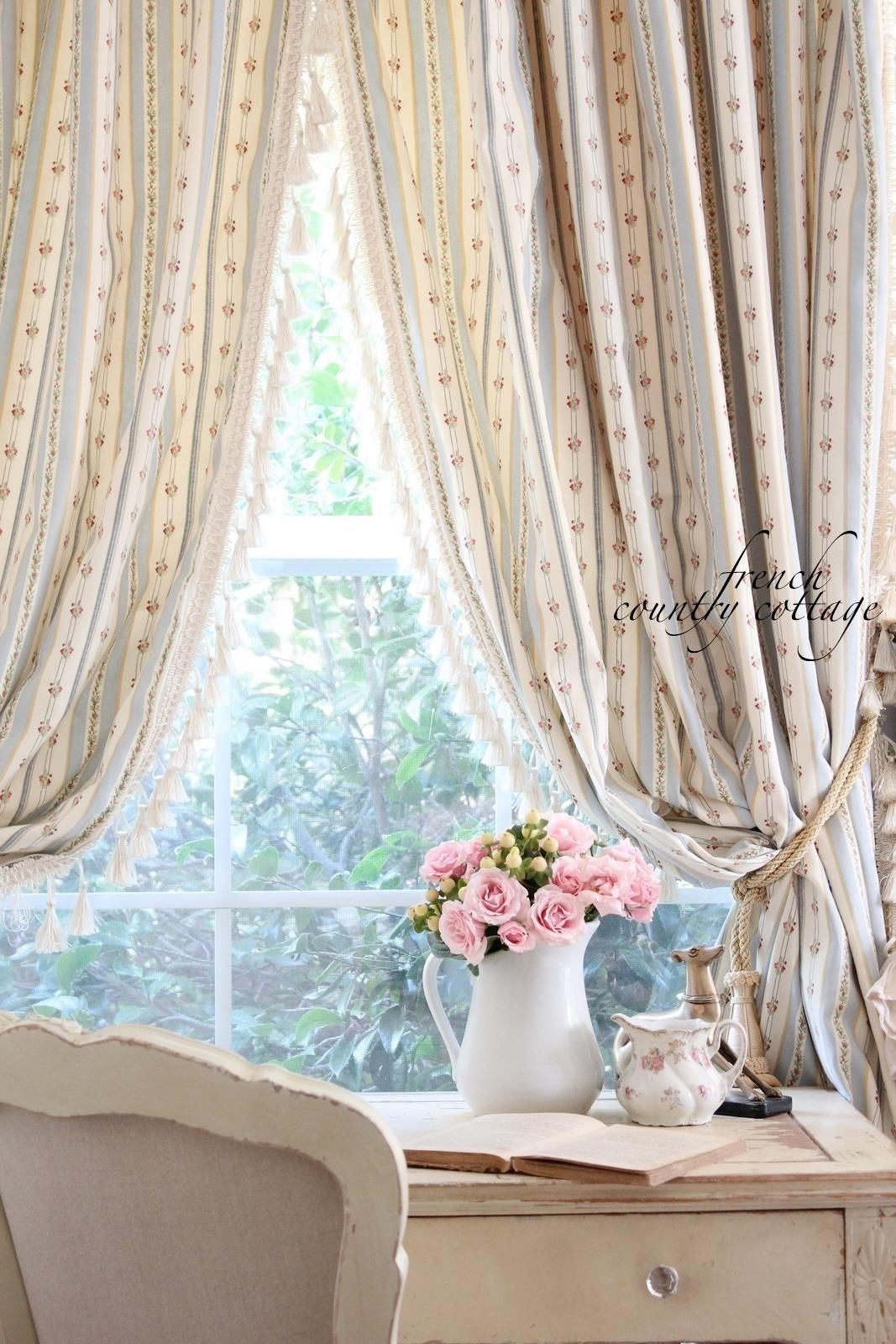 Shabby Chic French Country Curtains For The Home Pinterest For Cottage Style Curtains Cott French Country Bedrooms Cottage Curtains French Country Curtains
