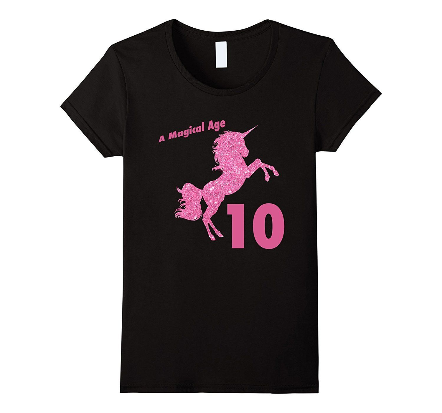 Kids 10th Birthday Unicorn Gift T Shirt for 10 Yr Old Girls