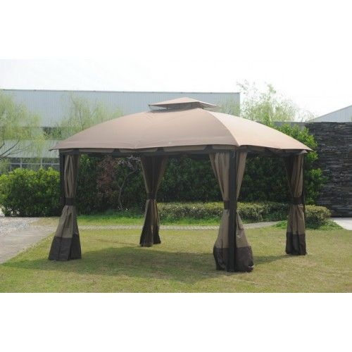 Sunjoy Big Lots 11x13 South Hampton Gazebo Canopy Fabric Gazebo Outdoor Gazebos Patio Gazebo