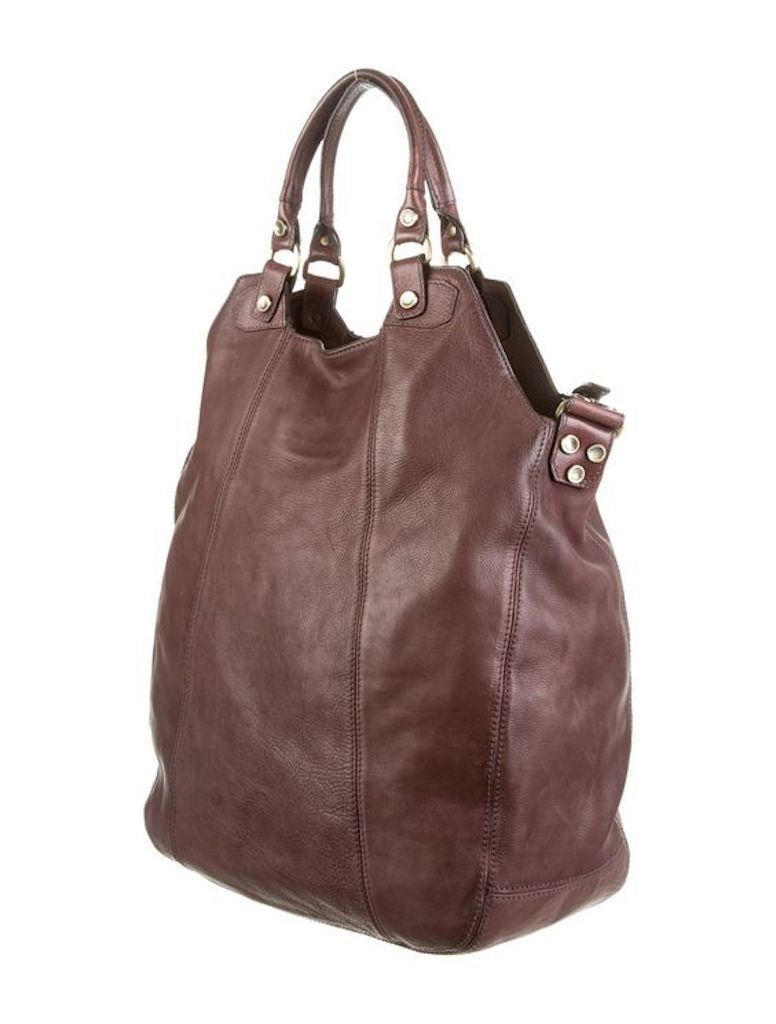 THEORY DISTRESSED LEATHER HOBO BAG
