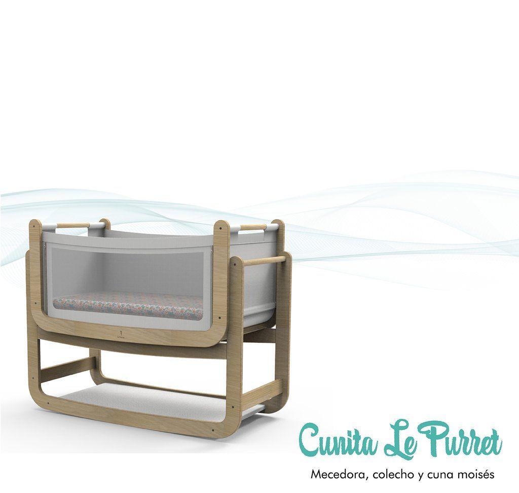 Cuna Le Purret 3 en 1 - Cuna mecedora, colecho y cuna moisés independiente.