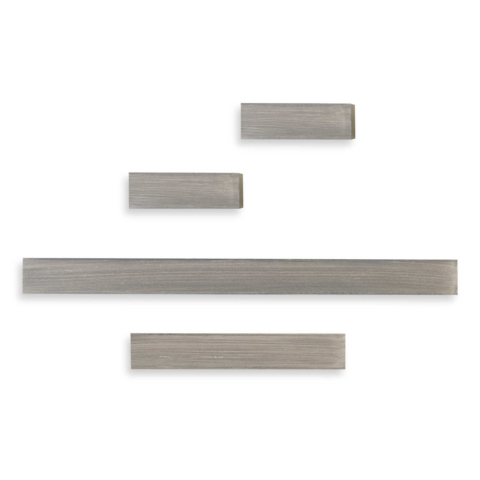 Melannco Floating Shelves Melannco® Floating Shelves In Grey Set Of 4  Living Room