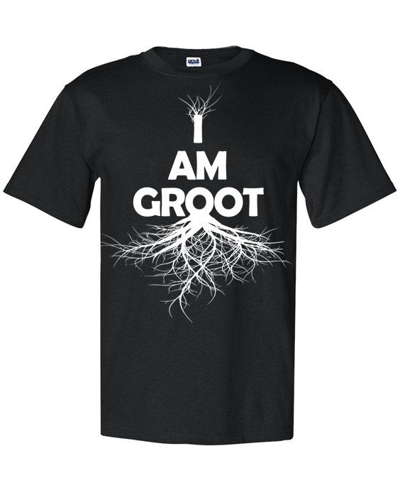 238df9b85 Guardians of the galaxy inspired I am groot - unisex tee shirt Silk Screen print  on Etsy, $19.99