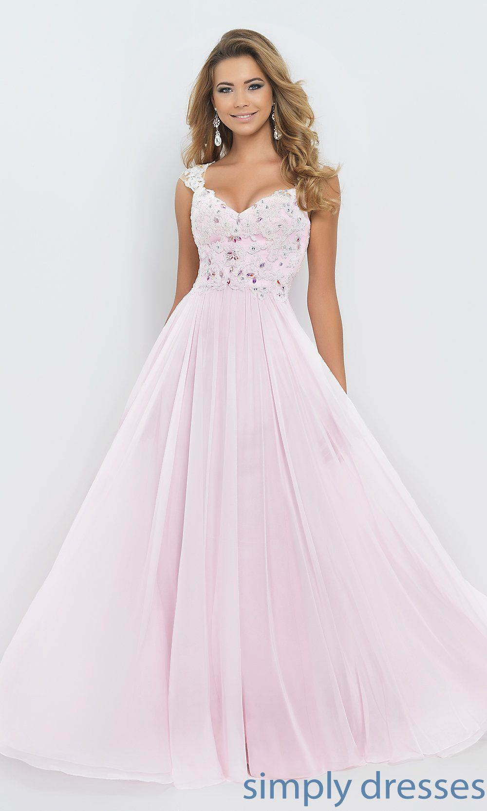 BL-9986 - Pink Blush Cap Sleeve Sweetheart Prom Gown BL-9986 | Cap ...