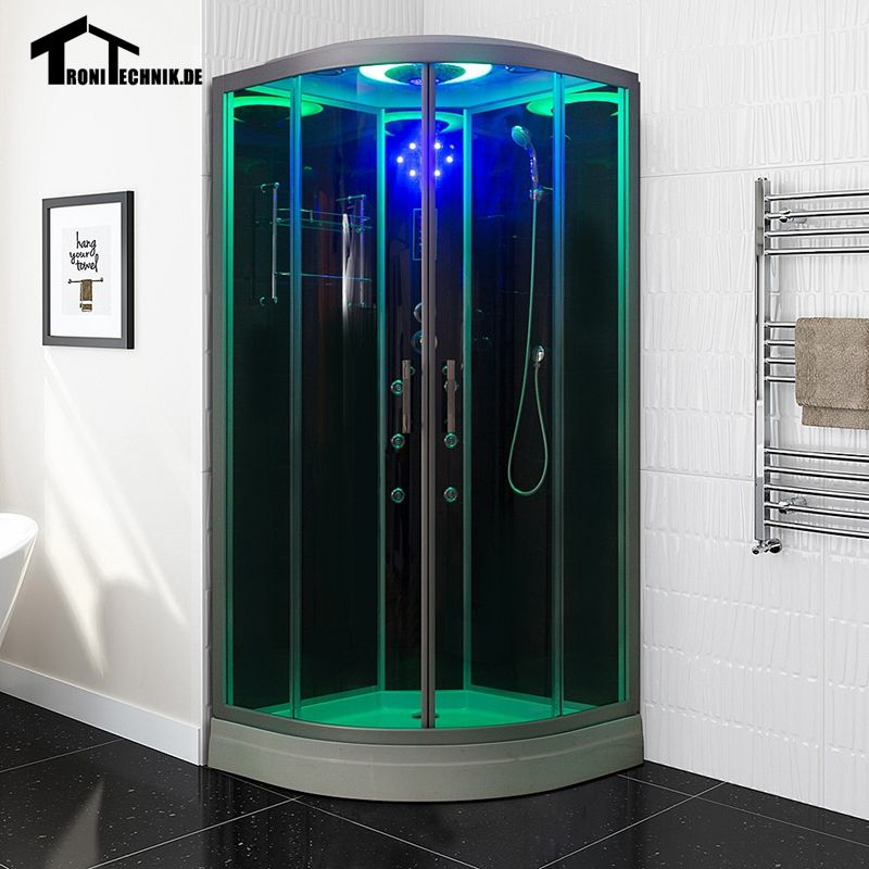 Free shipping 90cm White BLACK Steam Shower massage Corner Cabin ...