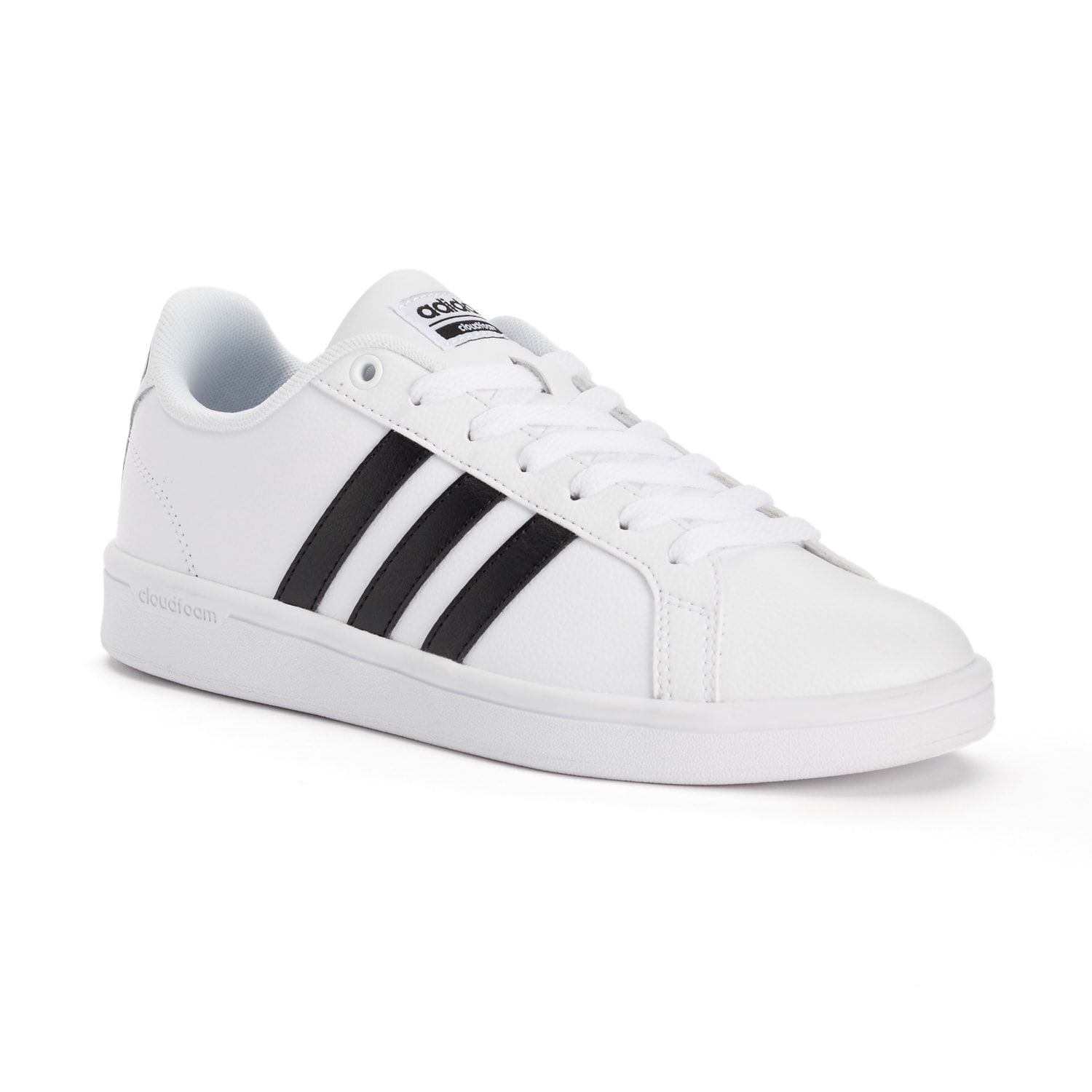 adidas NEO Cloudfoam Advantage Stripe Women's Shoes in iridescent white  (iridescent stripes not black)