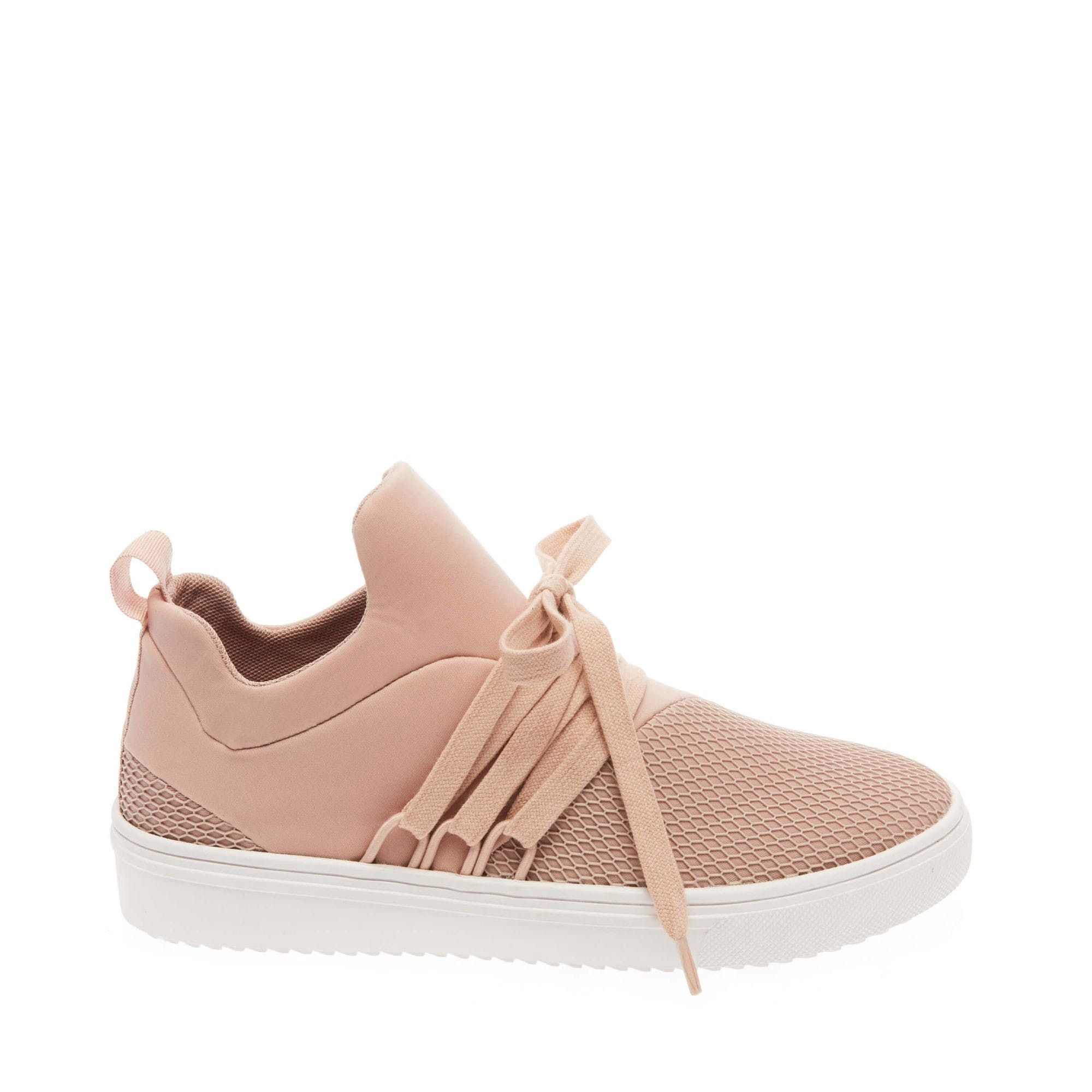 725dc3e6bb39 Dive into the athleisure trend with LANCER by Steve Madden. Asymmetrical  detail and neoprene fabric makes LANCER the coolest casual sneakers for  women.