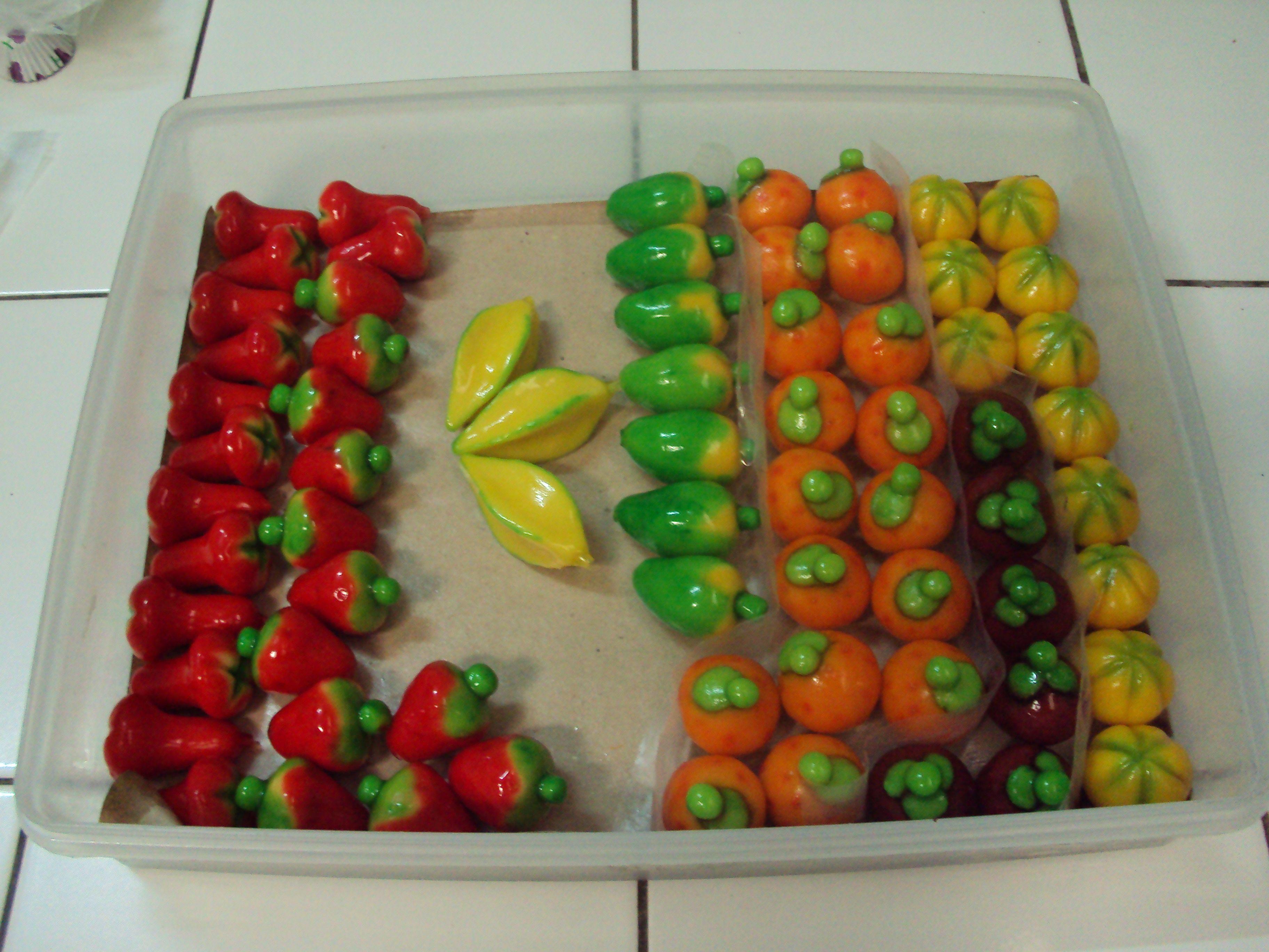 Kue Buah Mini Dalam Berbagai Jenis Buah Mini Merupakan Kue Tradisional Asal Thailand Kue Buah Buah Kue