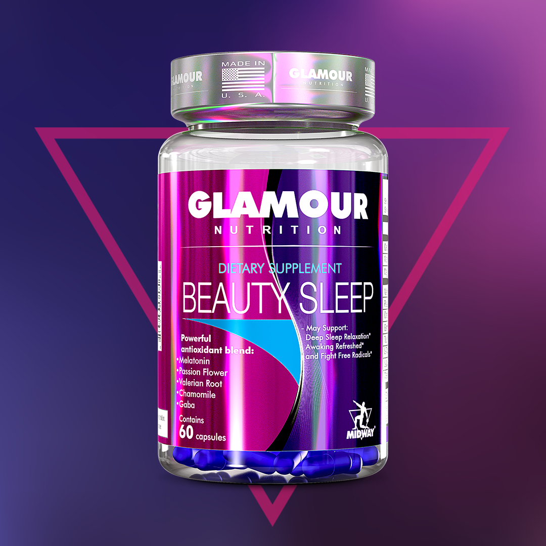 Glamour Beauty Sleep Contains Melatonin Passion Flower Valerian Root Chamomile And Gaba Components With Pow Beauty Supplements Supplements For Women Beauty
