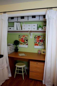 Desk In Closet Pinterest Google Search Closet Office Small Closet Design Closet Design Plans