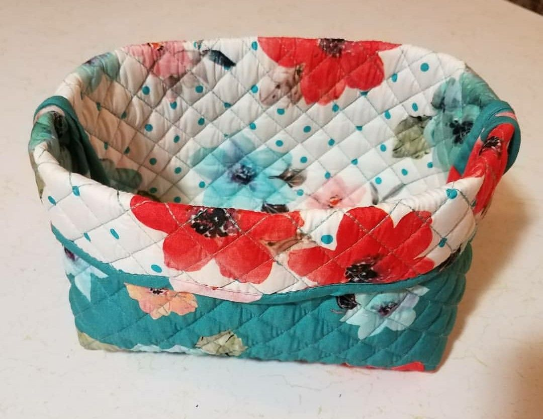 This Basket Using A Quilted Placemat By The Pioneer Woman Was Super Fun And Easy