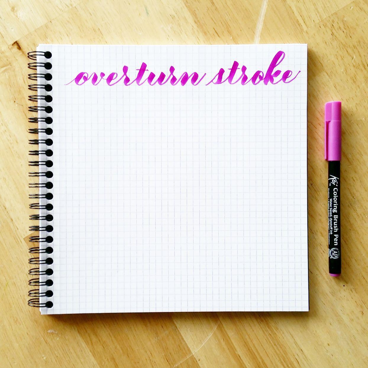 Basic Brush Calligraphy Strokes The Overturn Stroke