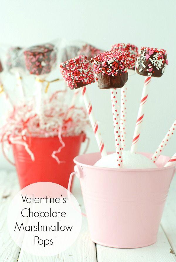발렌타인데이 초콜릿 마시멜로 팝