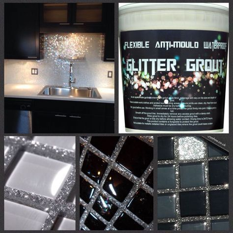 I can't wait to glitter grout the crap outta something in my house