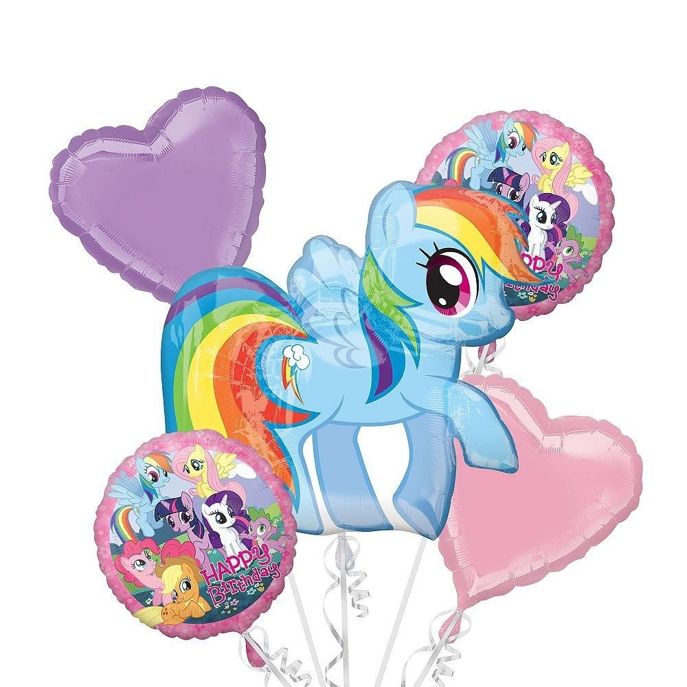 Pinkie Pie MLP~ My Little Pony Happy Birthday Foil Balloon Bouquet 5 pieces