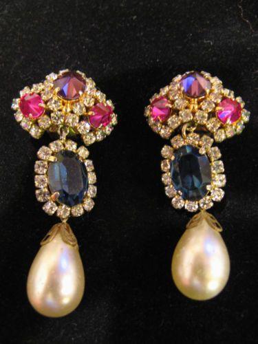 RARE Elegant Christian Dior Grosse 1969 Earrings eBay Vintage