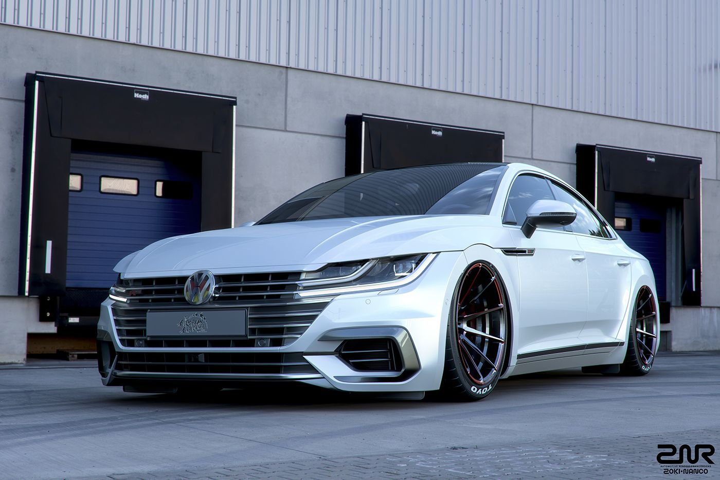 New Volkswagen Arteon Gets Its First Tuning Job Sort Of Carscoops Volkswagen Cc Volkswagen Car Wheels Rims
