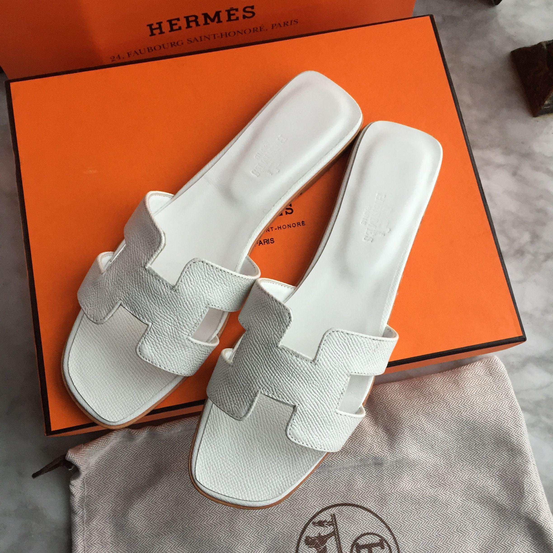 Hermes woman slippers Epsom leather