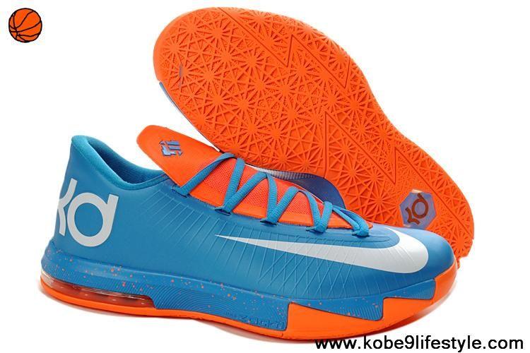 ... hot nike zoom kevin durants kd vi low basketball shoes blue orange  kevin durants shoes for 184c231712