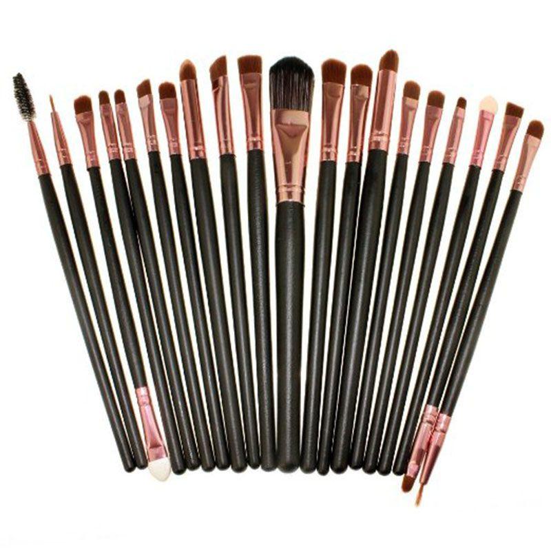 20pcs/Set Eyeshadow Blending Brush Powder Foundation Eyeshadading Eyebrow Lip Eyeliner Brush Cosmetic Tool Eye Makeup Brushes