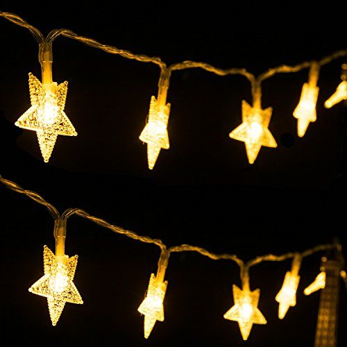 led lichterkette sterne 4m 40 leds string licht. Black Bedroom Furniture Sets. Home Design Ideas