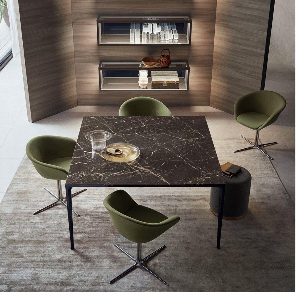 Design Vierkante Eettafel.Design Vierkante Marmeren Tafel Rimadesio Long Island